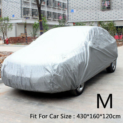 Medium M Waterproof Universal Full Car Cover UV Protection Breathable Outdoor