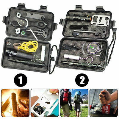 Emergency Survival Equipment Kit Outdoor Sports Tactical Hiking Camping SOS Tool