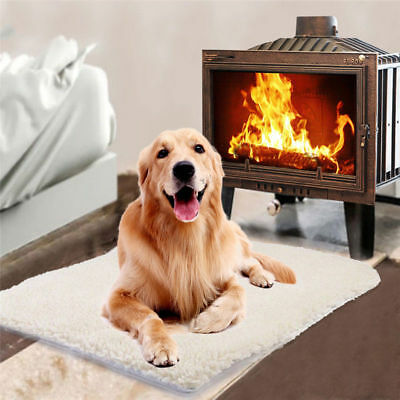 Large Self Heating Pet Dog Mat Bed Pad Soft Warm Cat Rug Thermal No Plug
