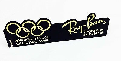Vintage Ray Ban B&L Bausch & Lomb 1992 Olympics Barcelona Spain Advertising Sign