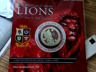 NEW ZEALAND 2017 The British & Irish Lions 2017 BU Coin!!!NEW
