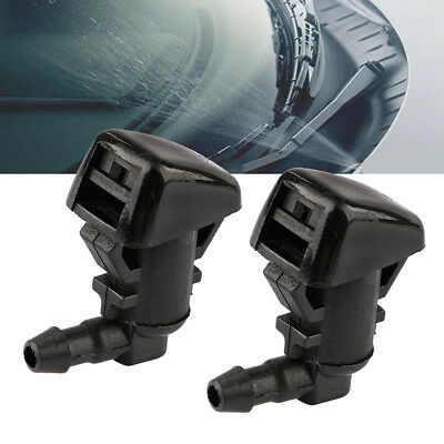 2x FRONT WINDSCREEN MIST WATER WASHER JETS SPRAY NOZZLES FOR FORD FOCUS 08-10