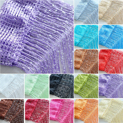 Glitter String Curtain Panel Shere Cafe Net Voile Drapes Fly Screen Room Divider