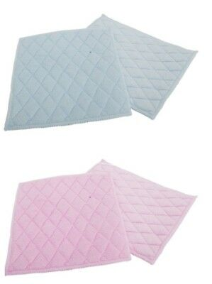 Pack of 2 Quilted  Microfibre Cleaning Pads Polishing Cloth Assorted Colours