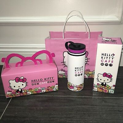 Hello Kitty Cafe Thermal Thermos Water Bottle 18 oz Limited Quantity!