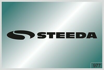 STEEDA -2 pcs. stickers  - HIGH QUALITY DECALS - different colors - №977