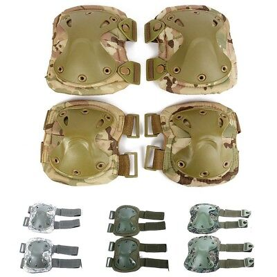 Protective New Military Airsoft Tactical CS Knee Elbow Pads Combat Adjustable