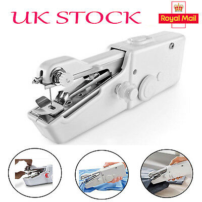 Mini Sewing Machine Portable Cordless Hand Held Single Stitch Fabric Home Travel