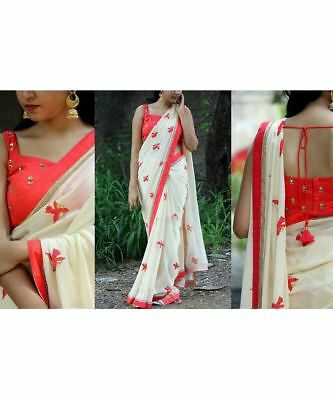 Indian Bollywood Designer New Fashionable Western Saree With Gorgeous Clour SRE