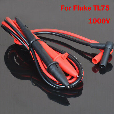 For Fluke TL75 Hard Point Meter Test Leads For Multimeter CAT III 1000V 10A