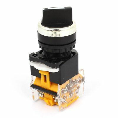 AC 380V 10A DPST 3 Position Rotary Selector Latching Button Switch