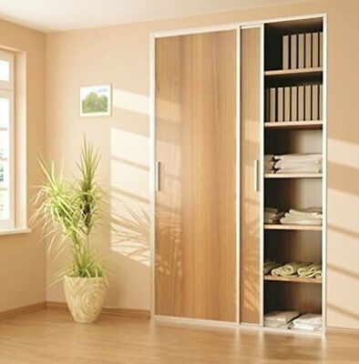 Sliding Wardrobe 2 Door 1200mm Twin Track Gear System ARES 2 Roller Internal
