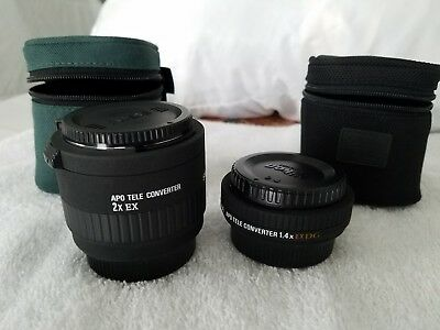 Sigma EX 2.0x APO DG Lens For Nikon and a 1.4