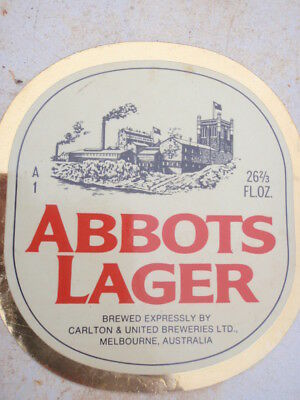 """Abbots Lager""  decal unused,"