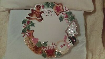 Fitz and floyd Christmas plate 1992 Cookies For Santa