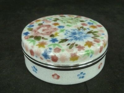 Japanese Ando Co Ltd Cloisonne Trinket Box & LId