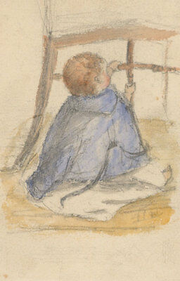 Pair of Early 20th Century Watercolour - Studies of Children