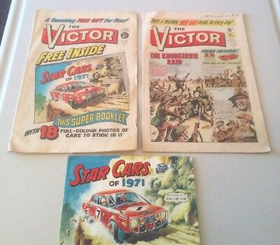 The Victor Comic x2 with Free Gift 1971