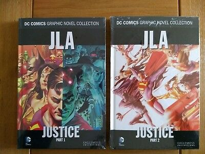 JLA - Justice parts 1 & 2 **Brand New & Sealed** Eaglemoss Hardback