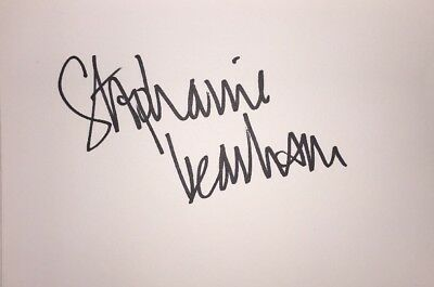Stephanie Beacham Signed 6X4 White Card Tv Autograph Tenko & The Colbys