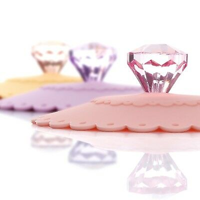 ME.FAM Diamond Flower,Set of 6 Pack,anti-dust Airtight Seal Silicone Cup ... New