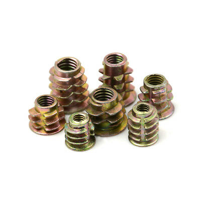 50Pcs M4 M5 M6  Zinc Hex Drive Head Screw Insert Nut Threaded For Wood YJ