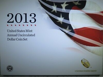2013 US Mint Annual Uncirculated Dollar 6 Coin Set