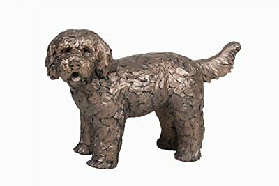 Button Labradoodle Dog Frith Sculptures by Adrian Tinsley Cold Cast Bronze AT034