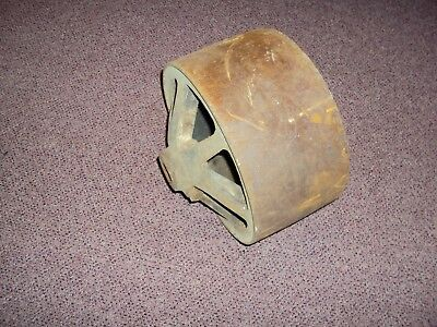 Antique Cast Iron Flat Belt Tractor Pulley Machine Pulley Hit & Miss Motor