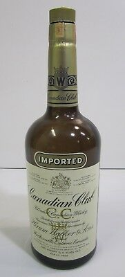 "Vtg 1971 Imported Canadian Club Blended Whiskey Glass Bottle Large 19"" Bar Pub"