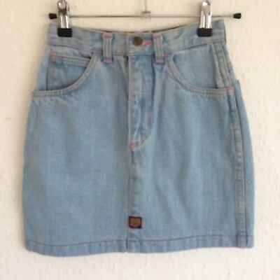 Vintage Kids Tammy Girl 90s Classic Light Blue Denim Grunge Chore Skirt 10 Y