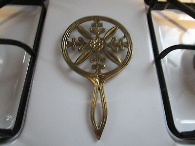 Lovely+Vintage 1960'S[SOLID  BRASS TRIVET ] JAPAN ~~NICE