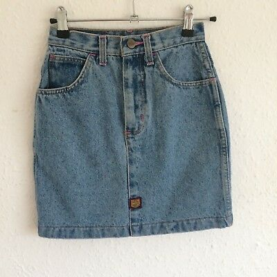 Vintage Kids Tammy Girl 90s Classic Blue Denim Grunge Chore Skirt 10 Y