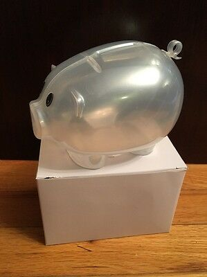 Frosted Plastic Piggy Bank - Save Coins And Cash Fun For Kids New