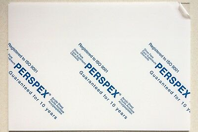 Perspex Cast Acrylic Sheet 9 Colour Options 2mm,3mm,4mm,5mm,6mm (Multiple Sizes)