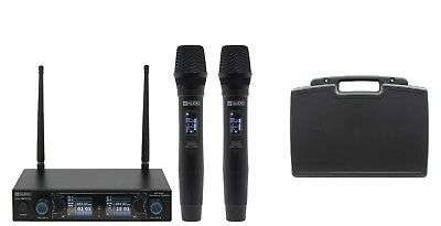 W audio Twin UHF Professional Handheld Wireless Microphone System Rechargeable