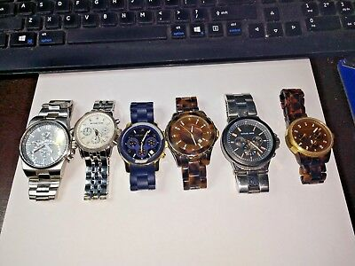 Michael Kors Watch Lot Of 6 Watches Some Fully Working Some For Parts Repairs