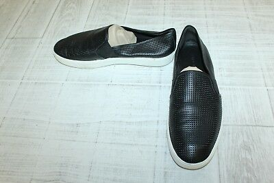 2c28aaf9c VINCE BLAIR PERFORATED Leather Sneakers, Women's - Size 9 M, Black ...