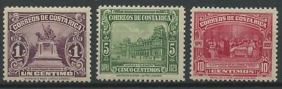 Costa Rica 1930 MLH Stamp Set | Scott #151-156 | Monuments
