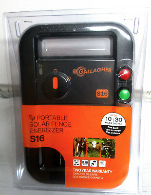 Gallagher G341414 S16 Solar Electric 30 Acre Fence Charger - New
