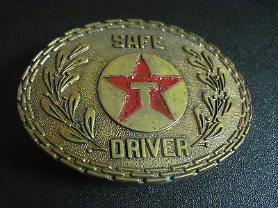 Vintage Texaco Gas And Oil Safe Drivers Belt Buckle Nice