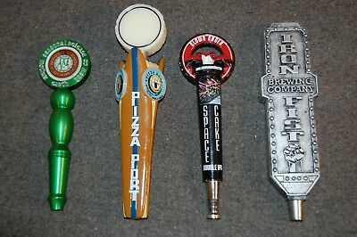 Lot of 4 beer tap handles  Pizza Port  Clown Shoes  Iron Fist  Mother Earth Brew