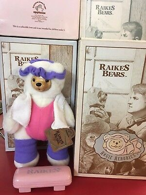 Robert Raikes Bears Angie Aerobics 1994 NEW in box with certificate of authenti.