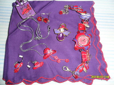 Red Hat Society items; pretty and fun!