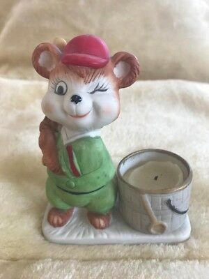 """Luvkin Critters by Jasco 1979 Baseball Mouse #16 / 4.75"""" x 3.5"""""""