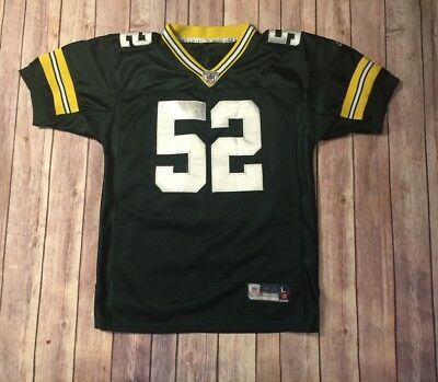 e9c620c70 Green Bay Packers Clay Matthews Youth Large Reebok Sewn NFL Football Jersey