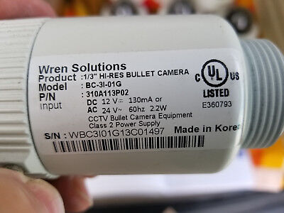Wren Solutions security camera BC-31-01G