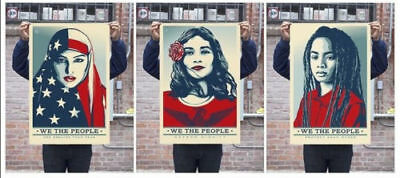 Shepard Fairey We The People Signed Art Print Set Greater Fear Womens March OBEY