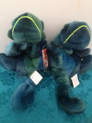 PERFECT PR.#4 RAINBOW CHAMELEONS Plush BEANIES Tags Covers RETIRED Unplayed With