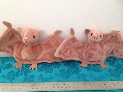 PERFECT PR. #5 BATTY BATS Plush BEANIES Tags Covers RETIRED Unplayed With